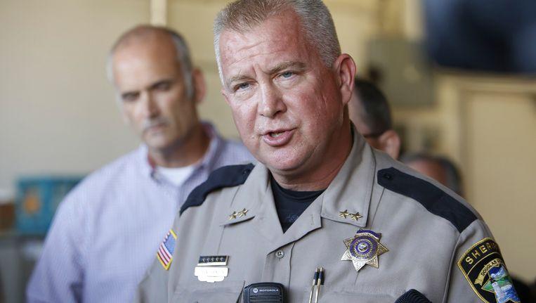 Sheriff in Roseburg, John Hanlin Beeld REUTERS