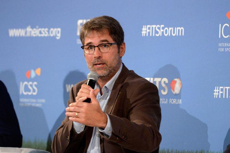 Jaimie Fuller, oprichter van de antigroep New FIFA Now. Beeld getty