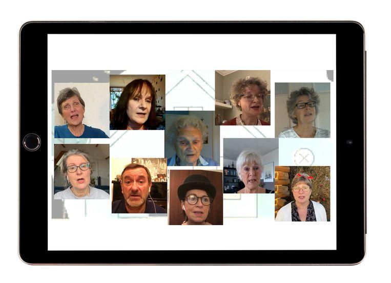 Het digitale koor van tante Trees. Beeld Shutterstock