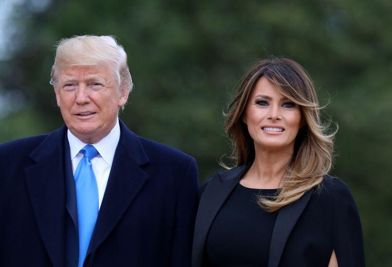 Het 'grab 'em by the pussy'-incident van president Trump deed first lady Melania af als 'boys talk'.  Beeld Photo News