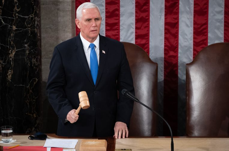 Amerikaans vicepresident Mike Pence. Beeld Photo News