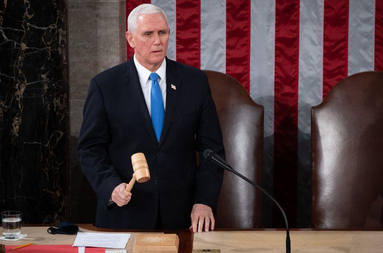 Amerikaans vicepresident Mike Pence. Beeld Photo News