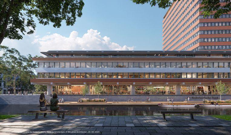 Er is ongeveer 200 miljoen uitgetrokken voor een gebouw dat biodivers en duurzaam zal zijn. De CO2- uitstoot gaat met 95 procent omlaag, uitbundige groenvoorzieningen moeten de hitte van de stad dempen. Beeld Mecanoo