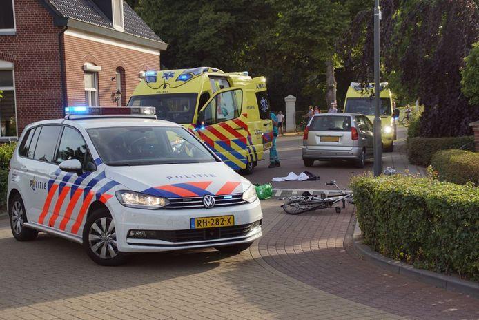 De situatie na het ongeval in Gendringen.
