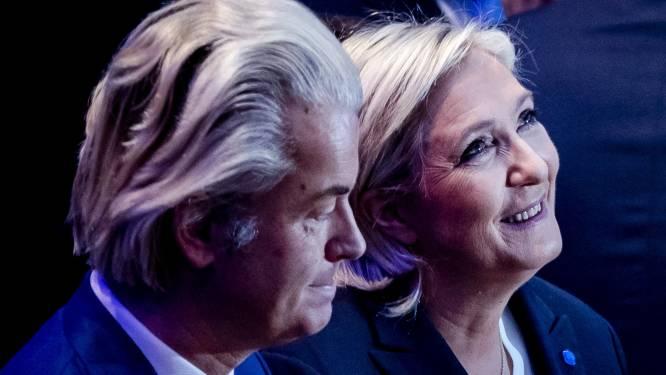 """Marine Le Pen steunt """"vriend"""" Geert Wilders"""