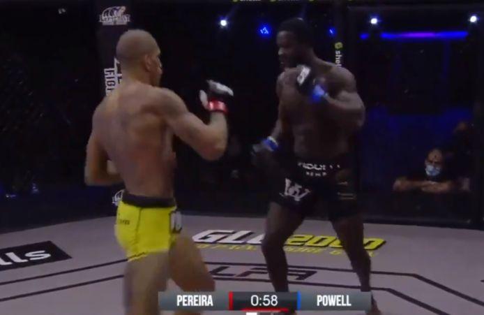 Alex Pereira debuteert in MMA met knock-out.