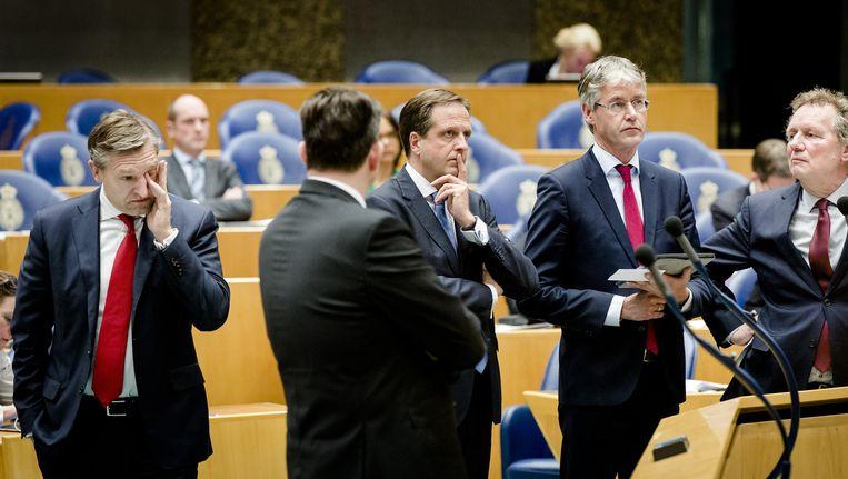 Fractievoorzitters van oppositiepartijen in de Tweede Kamer Beeld anp
