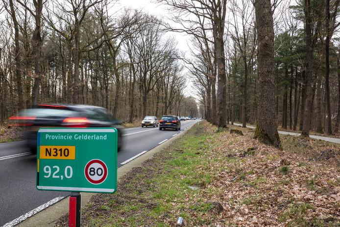 Provinciale weg in Gelderland. De provincie telt - samen met Brabant - de meeste verkeersdoden op provinciale wegen.