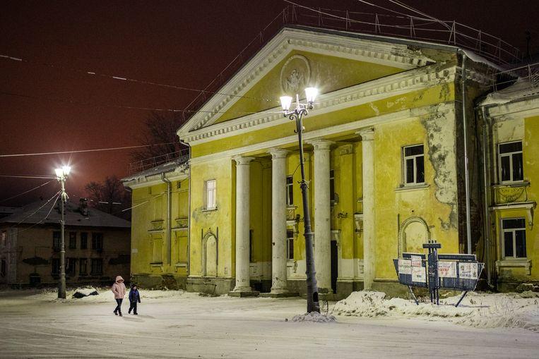 Het cultuurhuis, de trots van de inwoners. Beeld Emile Ducke