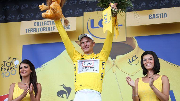 Marcel Kittel start morgen in het geel. Beeld getty
