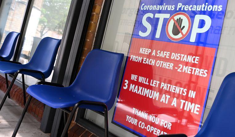 Een vaccinatiecentrum in hartje Londen. Het aantal besmettingsgevallen daalt de laatste dagen gestaag.  Beeld EPA