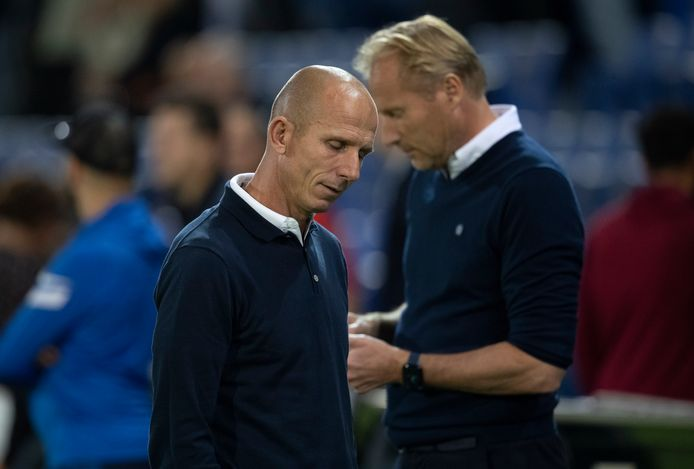 Reinier Robbemond (links) baalt na het puntenverlies tegen Jong FC Utrecht.
