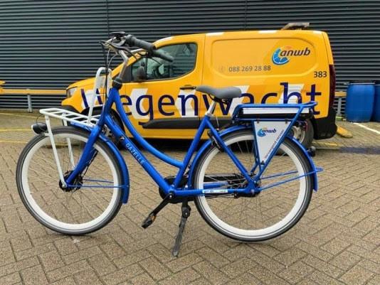 Een blauwe Gazelle als vervangend vervoer na een pechgeval, dat is deze week mogelijk in Utrecht.