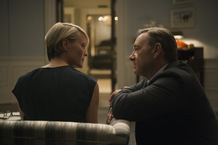 Frank en Claire Underwood (Kevin Spacey en Robin Wright). Beeld David Giesbrecht / Netflix