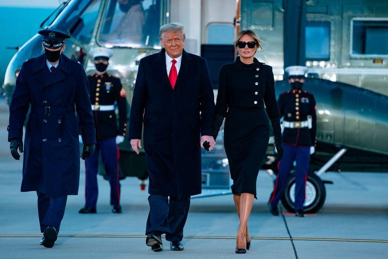 Voormalig president Donald Trump bereidt zich voor om zich voor de tweede keer tegen impeachment te verdedigen.  Beeld AFP