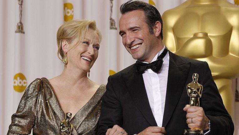 Meryl Streep en Jean Dujardin. Beeld AP