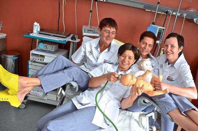 Babyboom in het AZ Delta van Menen. Vier vroedvrouwen in het verloskwartier.