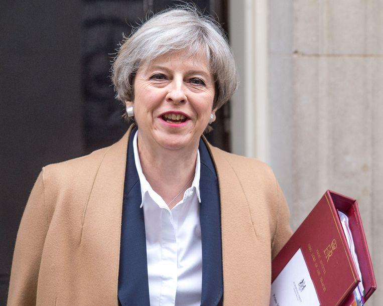 De Britse premier Theresa May behoort niet tot de 'uitverkorenen' Beeld Photo News