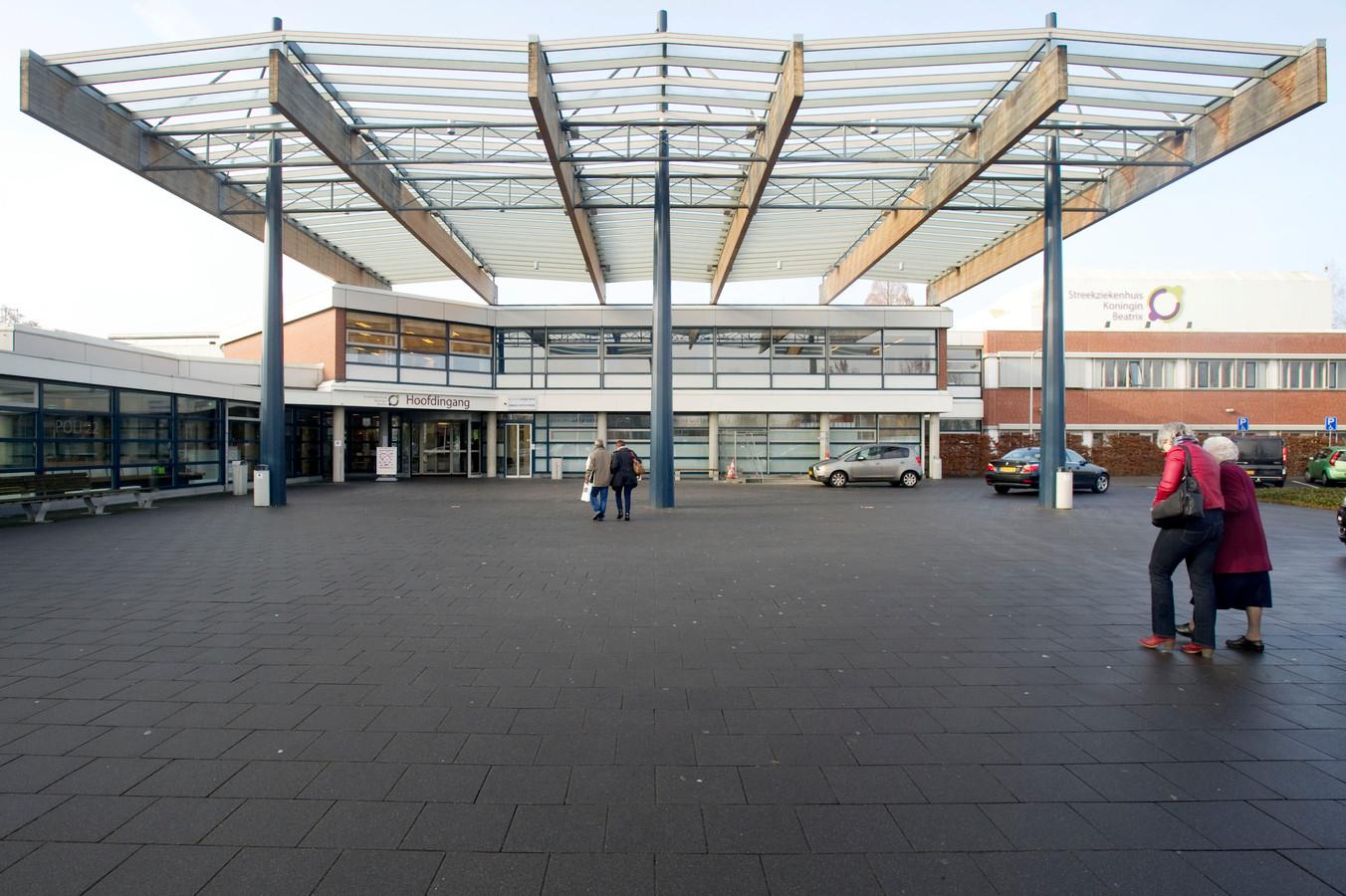 De ingang van Streekziekenhuis Koningin Beatrix in Winterswijk.