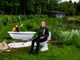 Kunstfietsroute in Salland: De ijsbaan krijgt een badkamer