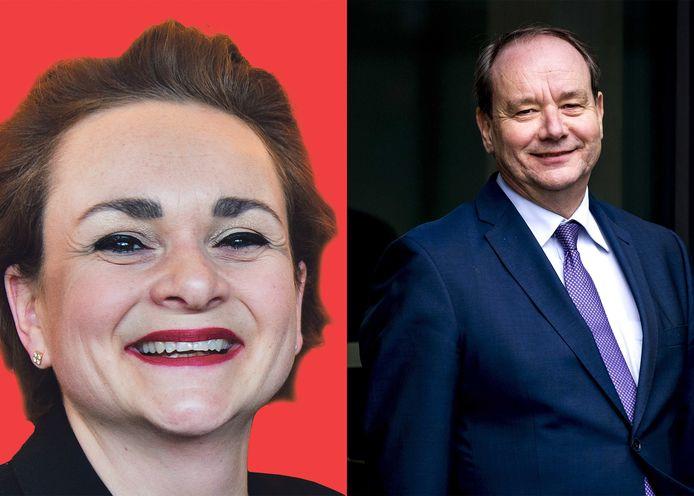 De nieuwe staatssecretarissen van Financiën: Alexandra van Huffelen en Hans Vijlbrief.