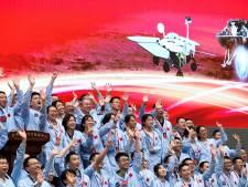 Eerste Chinese Mars-verkenner na zeven helse minuten succesvol geland op rode planeet