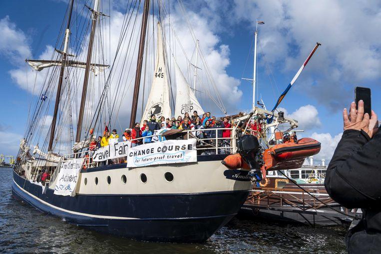 Ruim op tijd zou 'Sail to the COP' er zijn, voor de top begin december. Tot de locatie van de top werd gewijzigd.  Beeld ANP