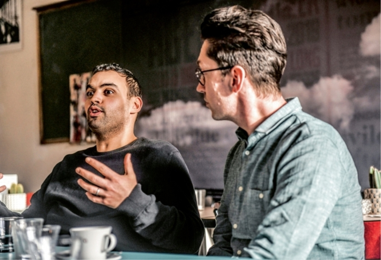 Kamal Kharmach en Steven Van Herreweghe.