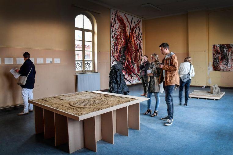 Nog tot 23 juli kan je de kunstexpo in het vroegere Krijgshospitaal gaan bekijken.