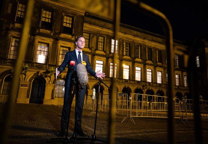 Mark Rutte (VVD) na afloop van een tweede gesprek met informateur Herman Tjeenk Willink.