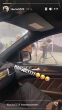 Rapper Blacka werkte mee aan de clip