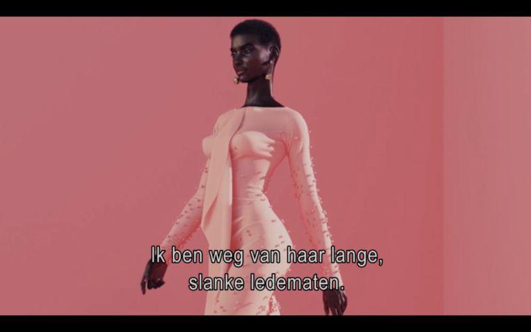 Digitaal supermodel Shudu bestaat alleen online en deed een campagne voor modehuis Balmain. Beeld NPO