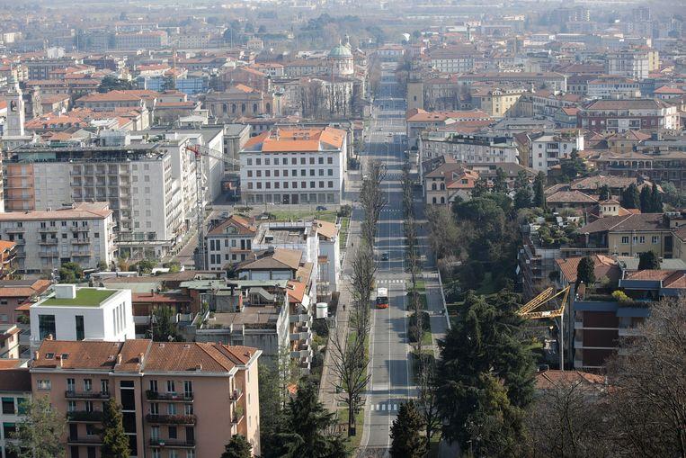 Bergamo is uitgestorven. Beeld AP