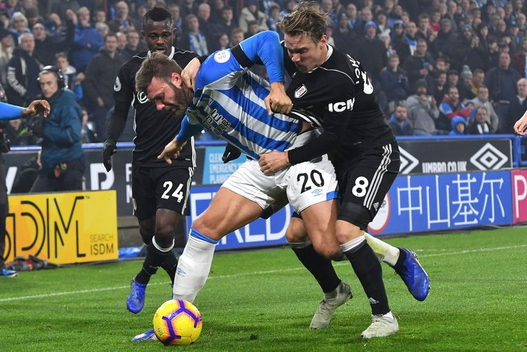 Huddersfield Town's Laurent Depoitre and