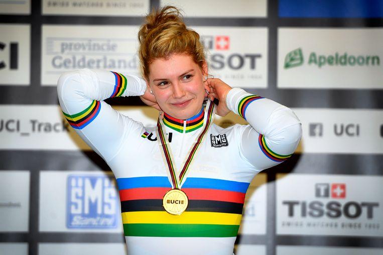 Nicky Degrendele werd vorig jaar wereldkampioene in het keirin.