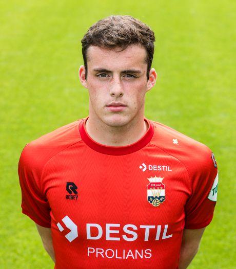 Maarten Schut bij wedstrijdselectie van Willem II tegen FC Groningen