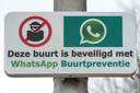 Het WhatsApp Buurtpreventie-bord.