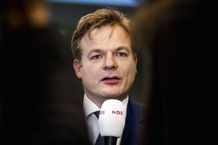 Pieter Omtzigt (CDA) in de Tweede Kamer.  Beeld ANP