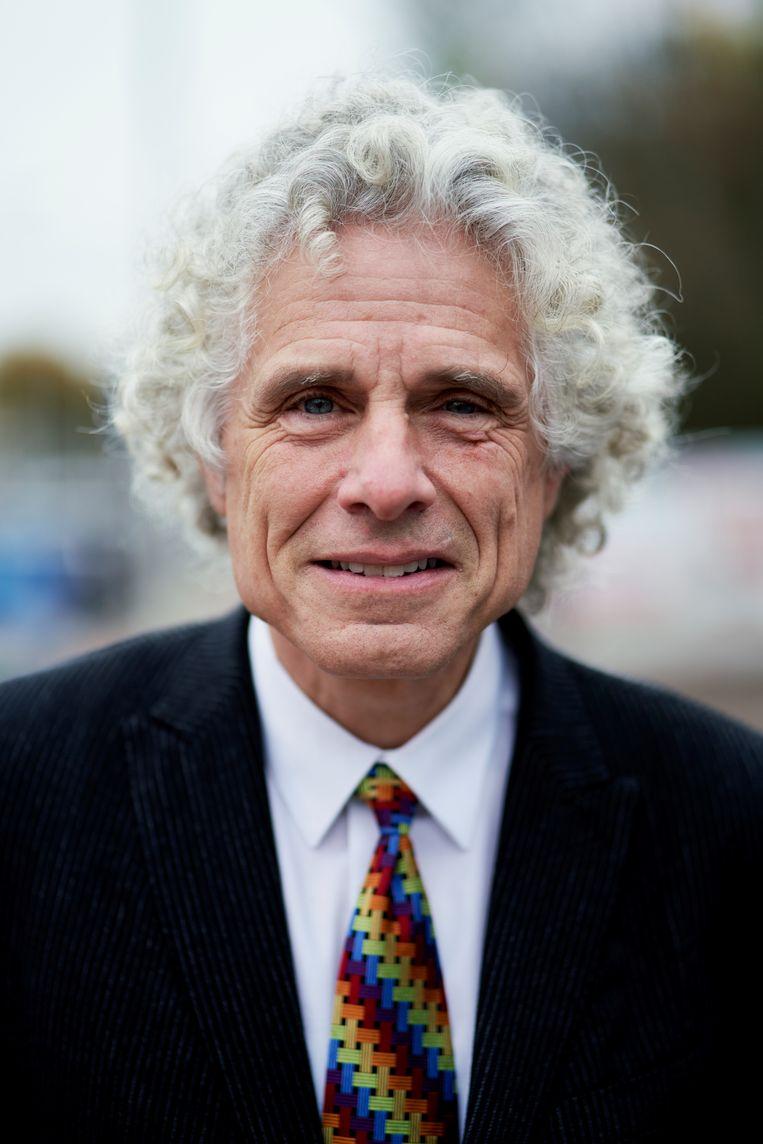 """Steven Pinker: """"Ik probeer niet overal verontwaardigd over te zijn."""" Beeld Joris Casaer"""