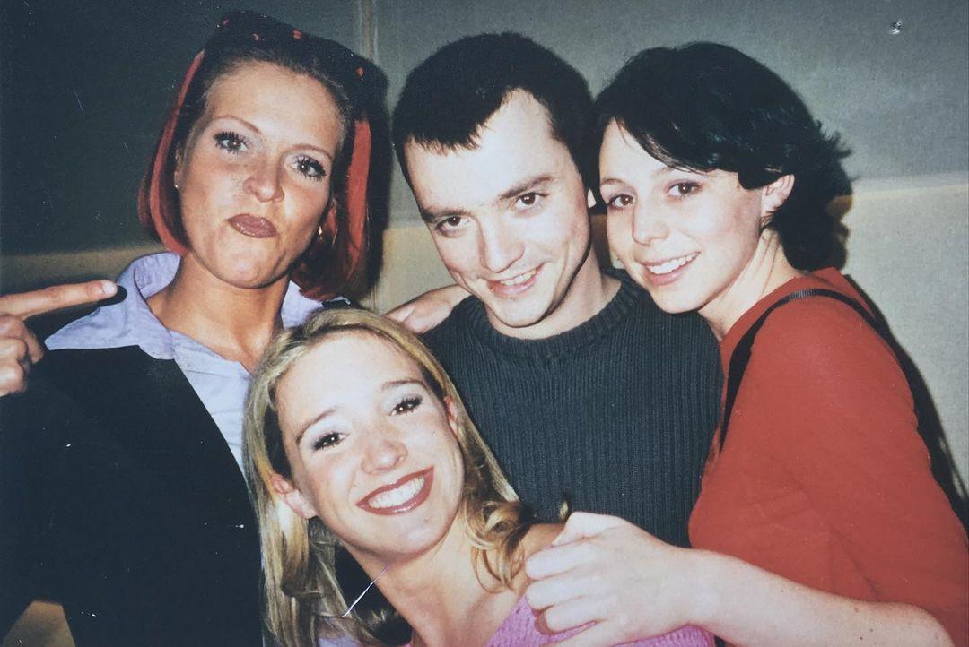 Miguel Wiels stopt na 23 jaar als componist bij K3:  Miguel Wiels met Kristel Verbeke, Karen Damen en Kathleen Aerts
