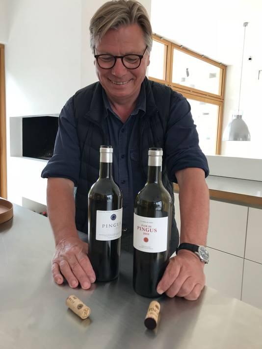 Peter Sisseck met zijn wereldberoemde Pingus-wijnen.