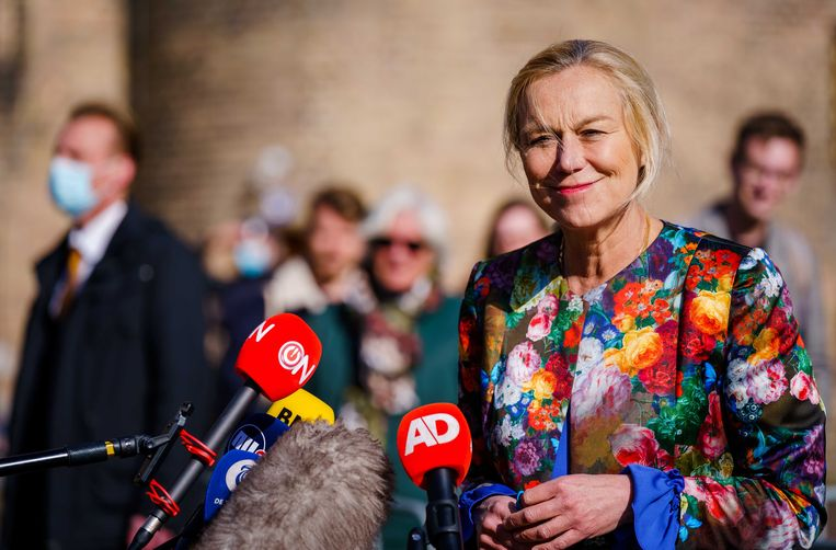 Woensdag zijn de leiders van de grotere partijen aan de beurt, inclusief Hoekstra (CDA), Kaag (D66) en Rutte (VVD).  Beeld ANP
