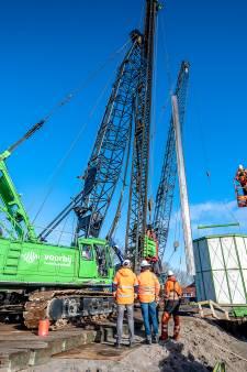 Mooi bedacht, maar werken doet vouwgordijn tegen bouwlawaai A16 niet