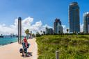 Fietstocht op de boulevard van Miami in de Verenigde Staten.