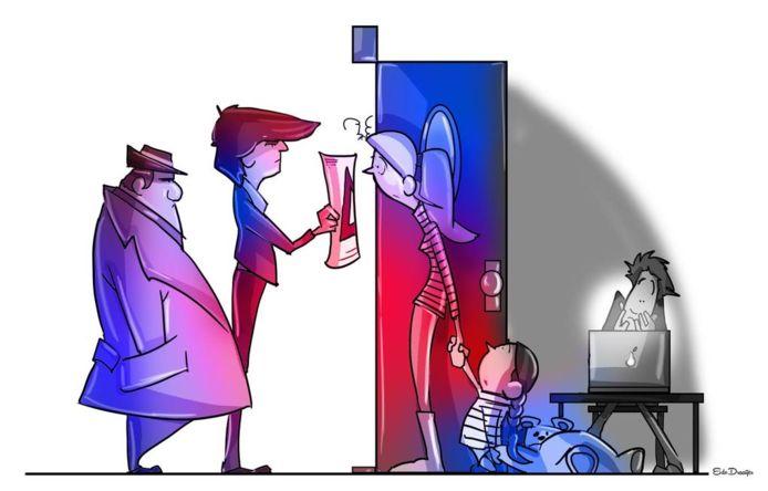 cartoon ter illustratie