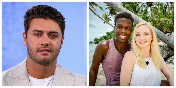 Voormalig 'Love Island'-deelnemer Mike Thalassitis (links) pleegde enkele weken geleden zelfmoord. 'Tempation Island'-deelnemer Roger vreest dat de vele pesterijen zijn Laura wel eens te veel kunnen worden.