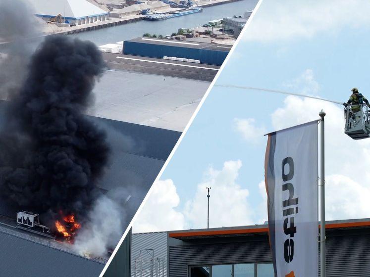 Grote brand op bedrijventerrein in Utrecht