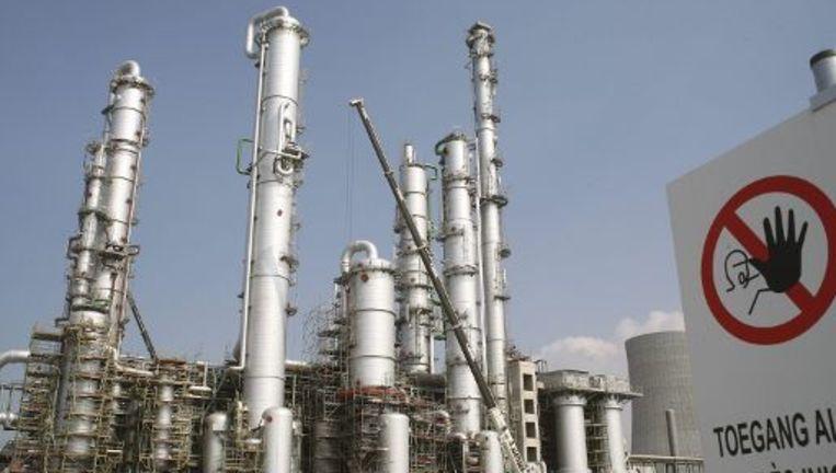 BASF Antwerpen, een van de bedrijven die minder CO2 uitstoten door een lagere productie. Beeld UNKNOWN