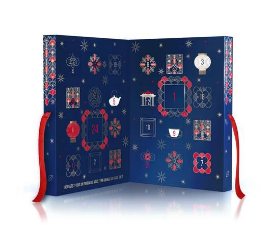Le calendrier de l'avent Nuits Impériales - 19,80 euros. Disponible dans les magasins bio et sur www.thesdelapagode.com