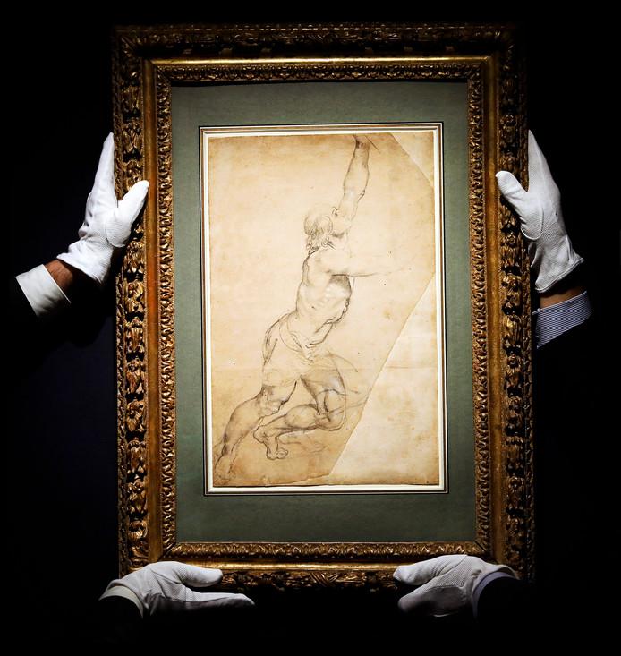 De tekening van Rubens die door prinses Christina verkocht is aan een anonieme koper.